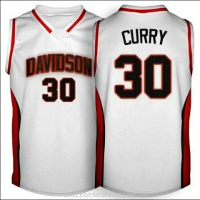 Mens Stephen Curry Davidson Wildcats #30 Swingman White College Basketball Jersey