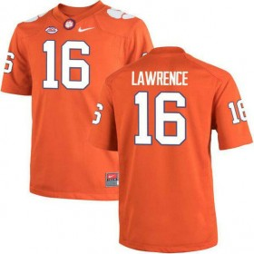 Mens Trevor Lawrence Clemson Tigers #16 Game Orange Colleage Football Jersey 102