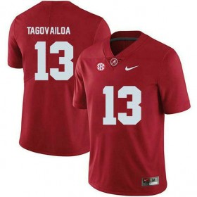 Mens Tua Tagovailoa Alabama Crimson Tide #13 Game Red Colleage Football Jersey 102