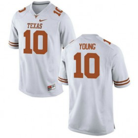 Mens Vince Young Texas Longhorns #10 Limited White Colleage Football Jersey 102