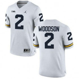 Michigan Wolverines Charles Woodson Mens Authentic White #2 Stitched Jordan College Football Jersey 102