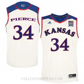 Paul Pierce Kansas Jayhawks #34 Authentic College Basketball Womens Jersey Cream