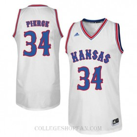 Paul Pierce Kansas Jayhawks #34 Authentic College Basketball Womens Jersey White