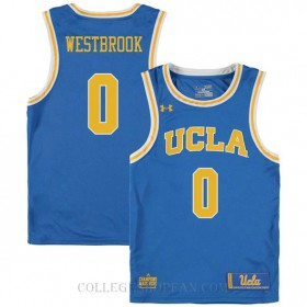 Russell Westbrook Ucla Bruins 0 Authentic College Basketball Womens Jersey Blue