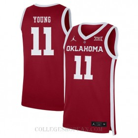 Trae Young Oklahoma Sooners #11 Limited College Basketball Youth Jersey Red