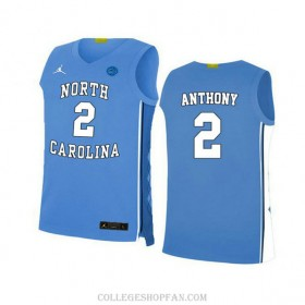 Womens Cole Anthony North Carolina Tar Heels #2 Authentic Blue College Basketball Unc Jersey