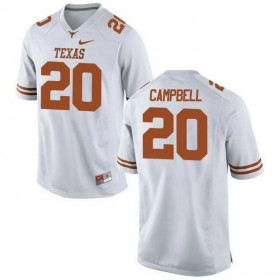 Womens Earl Campbell Texas Longhorns #20 Authentic White Colleage Football Jersey 102