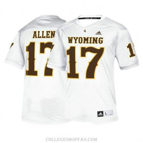 Womens Josh Allen Wyoming Cowboys #17 Authentic White College Football Jersey