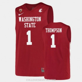 Womens Klay Thompson Washington State #1 Limited Red College Basketball Jersey