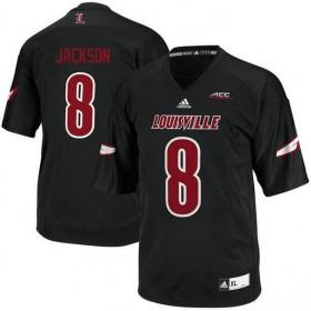 Womens Lamar Jackson Louisville Cardinals #8 Authentic Black College Football Jersey 102