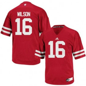 Womens Russell Wilson Wisconsin Badgers #16 Limited Red Colleage Football Jersey 102