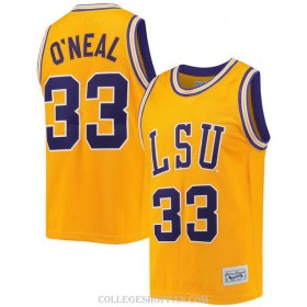 Womens Shaquille Oneal Lsu Tigers #33 Authentic Gold College Basketball Jersey