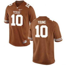 Womens Vince Young Texas Longhorns #10 Authentic Orange Colleage Football Jersey 102