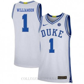 Zion Williamson Duke Blue Devils #1 Authentic College Basketball Womens Jersey White