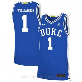 Zion Williamson Duke Blue Devils #1 Authentic College Basketball Youth Jersey Blue