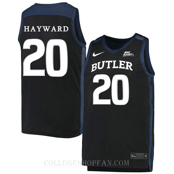 Gordon Hayward Butler Bulldogs #20 Authentic College Basketball Mens Jersey Black