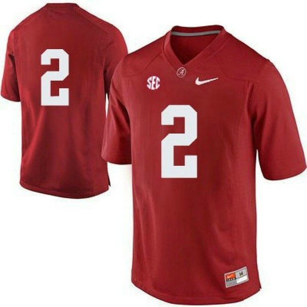 Mens Derrick Henry Alabama Crimson Tide #2 Authentic Red Colleage Football Jersey No Name 102
