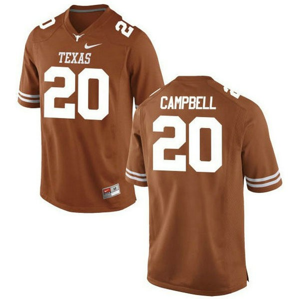 Mens Earl Campbell Texas Longhorns #20 Game Orange Colleage Football Jersey 102
