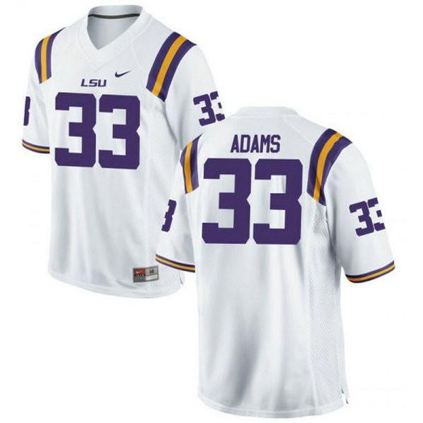 Mens Jamal Adams Lsu Tigers #33 Game White College Football Jersey 102