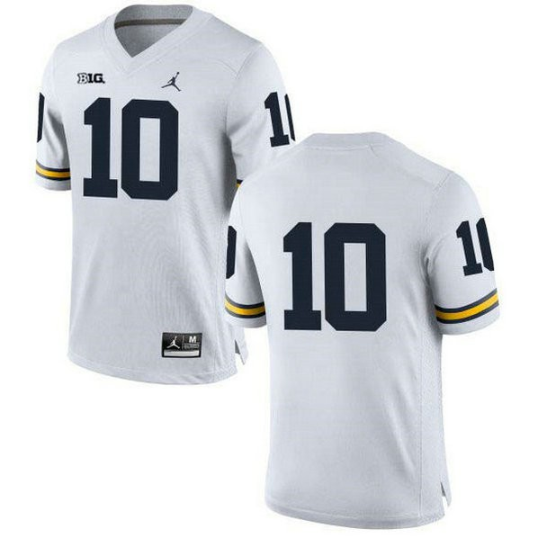 Mens Tom Brady Michigan Wolverines #10 Authentic White College Football Jersey No Name 102