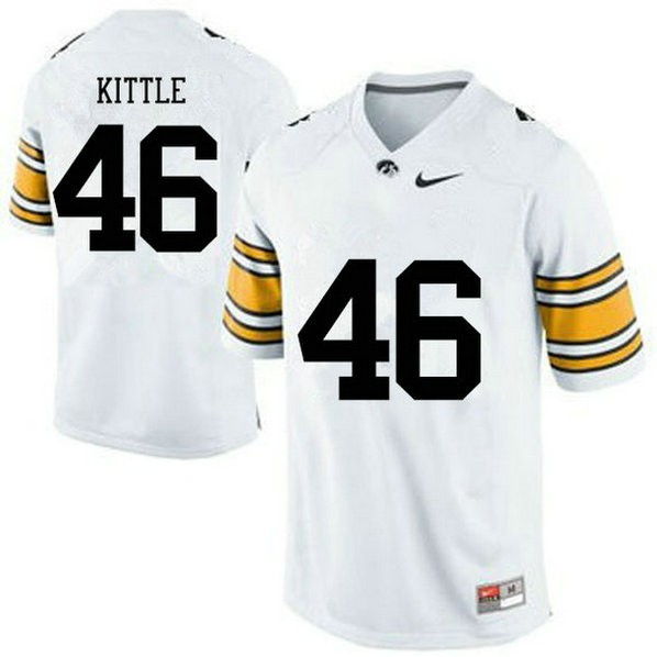 Womens George Kittle Iowa Hawkeyes #46 Limited White College Football Jersey 102