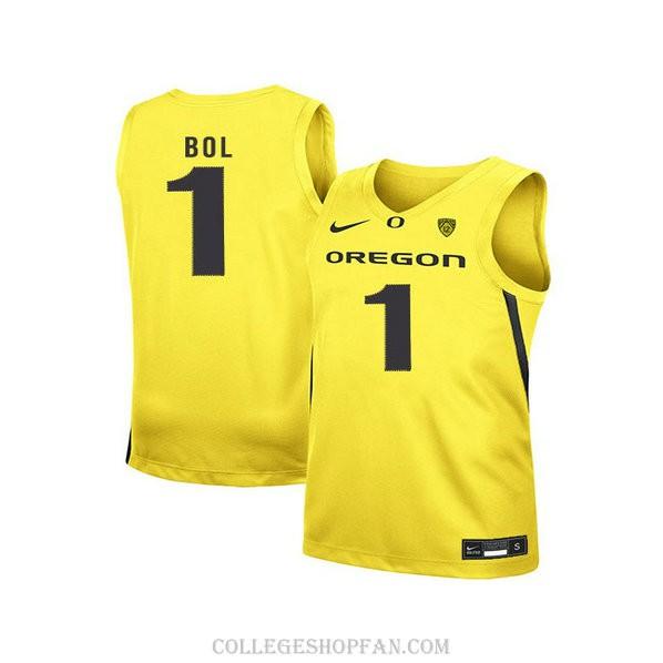 Youth Bol Bol Oregon Ducks #1 Authentic Yellow Alternate College Basketball Jersey