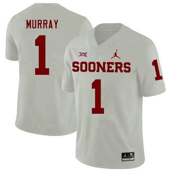 Youth Kyler Murray Oklahoma Sooners #1 Jordan Brand Game White College Football Jersey 102
